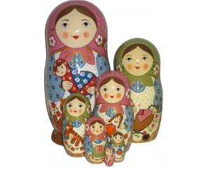 1018 - Matryoshka Russian Nesting Dolls