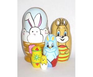 1029 -  Easter Bunny Matryoshka Russian Nesting Dolls