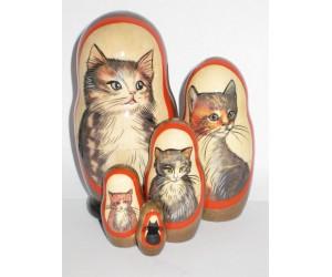 1035 - Cats Matryoshka Russian Nesting Doll