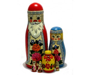 106 - Matryoshka Santa Claus Russian Dolls