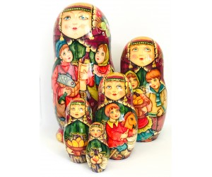 1099 - Matryoshka Russian Nesting Dolls Celebration