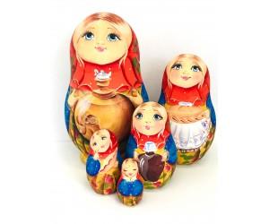 1100 - Matryoshka Russian Nesting Dolls Samovar