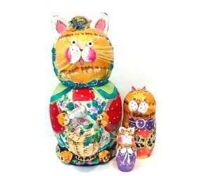 1113 - Cats Matryoshka Russian Nesting Dolls