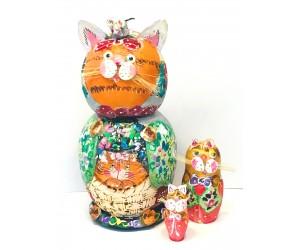 1118 - Cats Matryoshka Russian Nesting Dolls