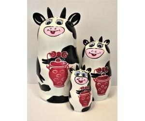 1131 - Cows Matryoshka Russian Nesting Dolls