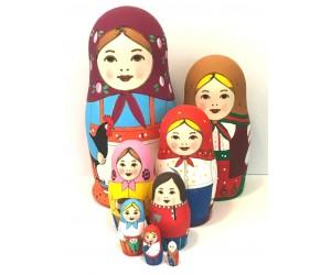 1154 - Matriochka Poupées Russes Famille