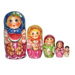 1205 - Matriochka Poupées Russes Fille au Melon