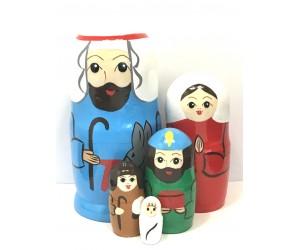1221 - Matriochka Poupées Russes Crèche de Noël