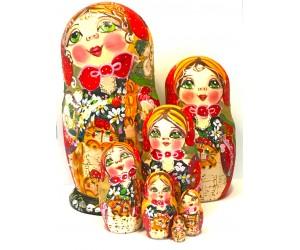 1356 - Matriochka Poupées Russes avec Chats