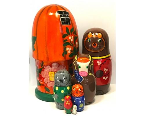 1357 - The Farm Matryoshka Russian Nesting Dolls