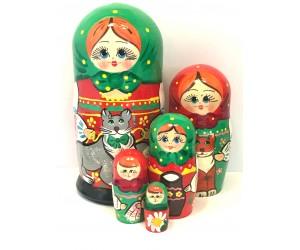 1359 - Matriochka Poupées Russes avec Chats
