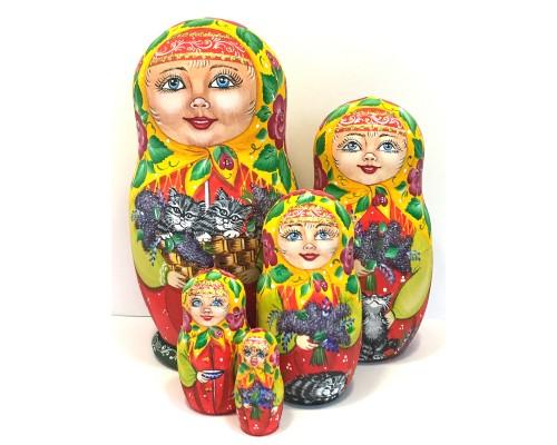 1415 - Matriochka Poupées Russes avec Chats