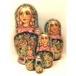 1428 - Matriochka Poupées Russes Médaillon Fleuri