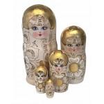 1480 - Matriochka Poupées Russes Pyrogravées