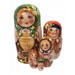 1484 - Matryoshka Russian Nesting Dolls Samovar
