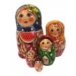 1485 - Matryoshka Russian Nesting Dolls Watermelon