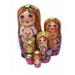 1487 - Matryoshka Russian Nesting Dolls with Rabbit