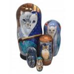 1488 - Matryoshka Russian Nesting Dolls Cats
