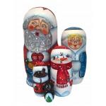 1489 - Matryoshka Russian Nesting Dolls Santa Claus