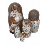 1491 - Matryoshka Russian Nesting Dolls Poker Bulldog