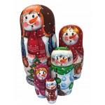 1492 - Matryoshka Russian Nesting Dolls Snowmen