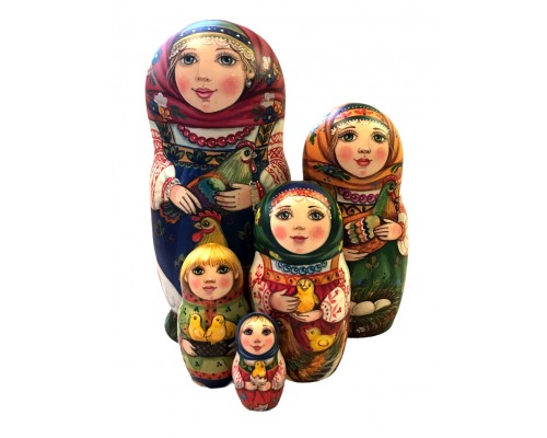 1569 - Matriochka Poupées Russes Modèle Unique Irina Starkina
