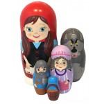 1589 - Matryoshka Russian Nesting Dolls The Little Red Riding Hood