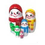 1593 - Matryoshka Russian Nesting Dolls Snowmen
