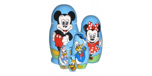 522 - Matriochka Poupées Russes Mickey Mouse