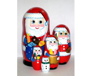 761 - Matriochka Poupées Russes Père Noël