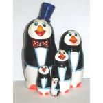 816 -  Matriochka Poupées Russes Pingouins