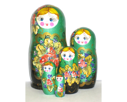 817 -  Matriochka Poupées Russes Motif Floral