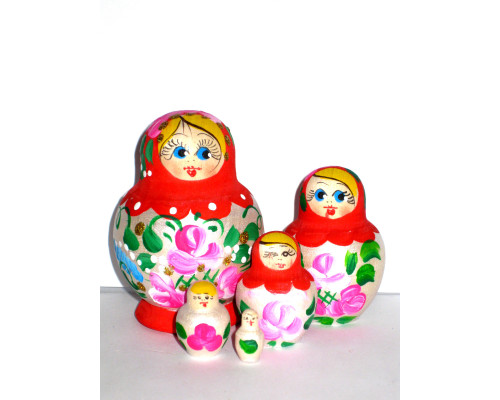 818 -  Matriochka Poupées Russes Motif Floral
