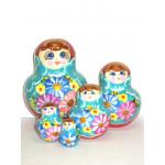 819 -  Matriochka Poupées Russes Motif Floral