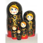 821 -  Matriochka Poupées Russes Motif Floral