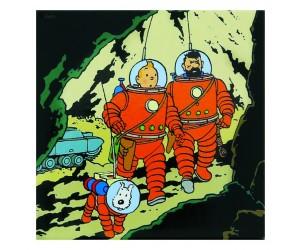 Aimant Tintin, Haddock et Milou Astronaute