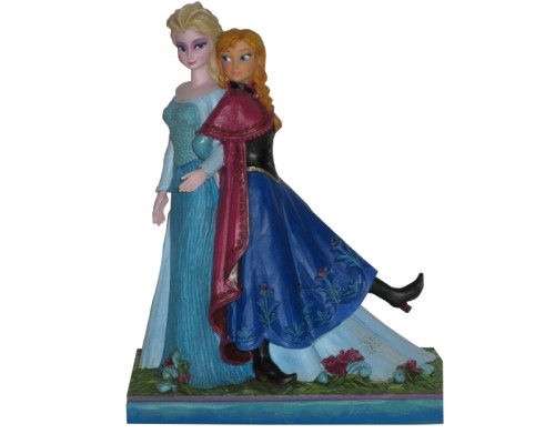 Elsa et Anna Heartwood Jim Shore Disney Tradition