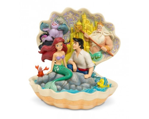 Ariel et Eric Coquillage Jim Shore Disney Tradition