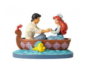 Ariel et Eric en Bateau Jim Shore Disney Tradition