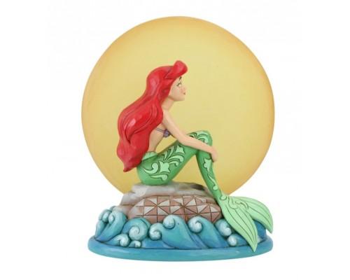 Ariel sur un Rocher au Clair de Lune Disney Tradition