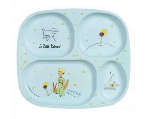 Assiette à Compartiments Bleue Le Petit Prince