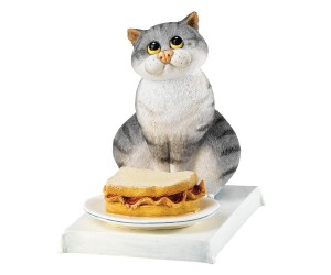 Bacon Butty - Comic and Curious Cats Figurine
