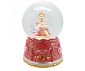Ballerine Assise Boule à Neige Musicale