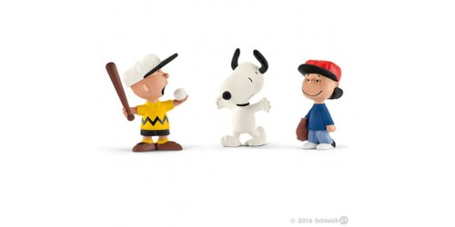 Baseball - Trio Charlie Brown, Lucy et Snoopy - Figurine Schleich