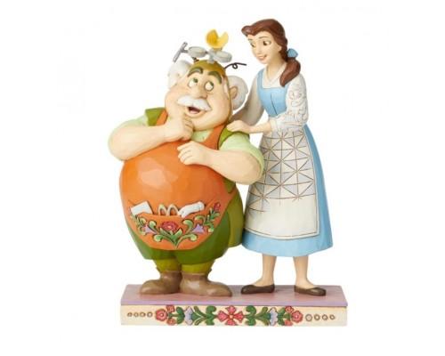 Belle et Maurice l'Inventeur Disney Tradition Jim Shore