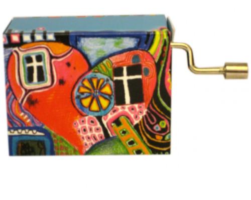 Bonne Fête Holz #204 - Handcrank Music Box