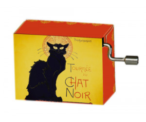 French Cancan Le Chat Noir #138 Hand Crank Music Box