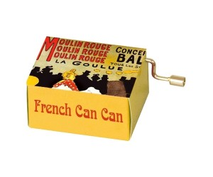 French Cancan Lautrec #139 Hand Crank Music Box