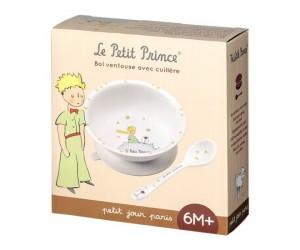 Bol à Ventouse et Cuillère Modèle Blanc  Le Petit Prince