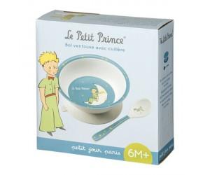 Bol à Ventouse et Cuillère Modèle Bleu Le Petit Prince